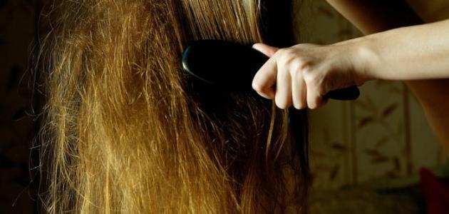 طريقة تمشيط الشعر المتشابك