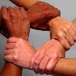 موضوع تعبير عن التعاون بين الناس والتكاتف