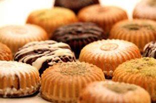 صور مكونات الكعك الناعم الصحيحة