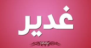 صورة معنى اسم غدير