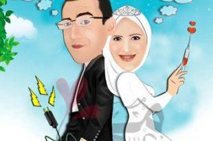 صور براندات كرتون للعريس والعروسه