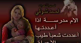 اشعار احمد شوقى عن الام