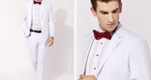 اشيك بدل رجالي بيضاء للزفاف