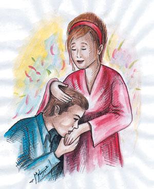 دعية المحبة بين الم والبن