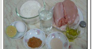 طريقة عمل شاورما الفراخ , بالصور اعداد شاورما الدجاج