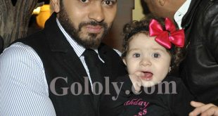 بالصور هده هي ابنة تامر حسني التانية