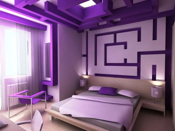 صور غرف نوم باللون الموف2017 <br />اجمل غرف نوم باللون الموف 2017