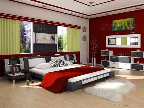 صوره اجمل ديكورات غرف النوم الحديثه