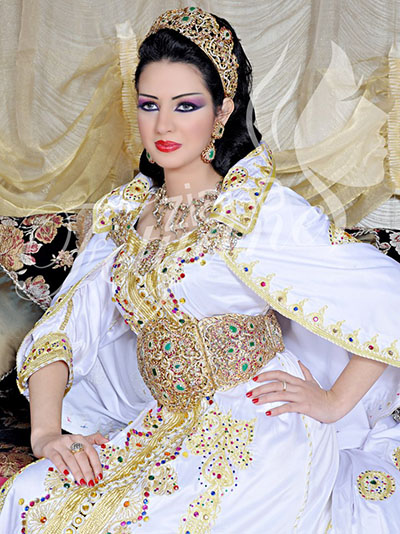 صور اجمل فساتين مغربية 2017 , احلى صور الفساتين المغربيه