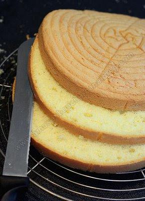 صورة طريقة عمل الكيكة الاسفنجية بالصور , تحضير الكيك