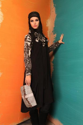 ازياء محجبات شتوية تركية 2019 ملابس تركية للمحجبات موديلات