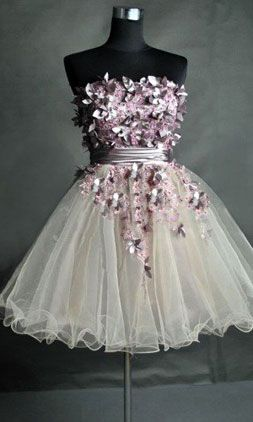 short prom dress,short prom dress / pinning for the website not this dress