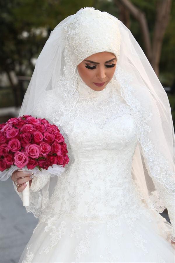 صورة صور فساتين زفاف للمحجبات 2019