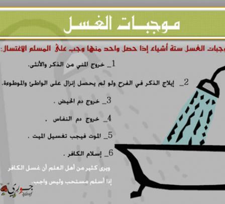 صور طريقة الغسل من الجنابة للرجل بالصور