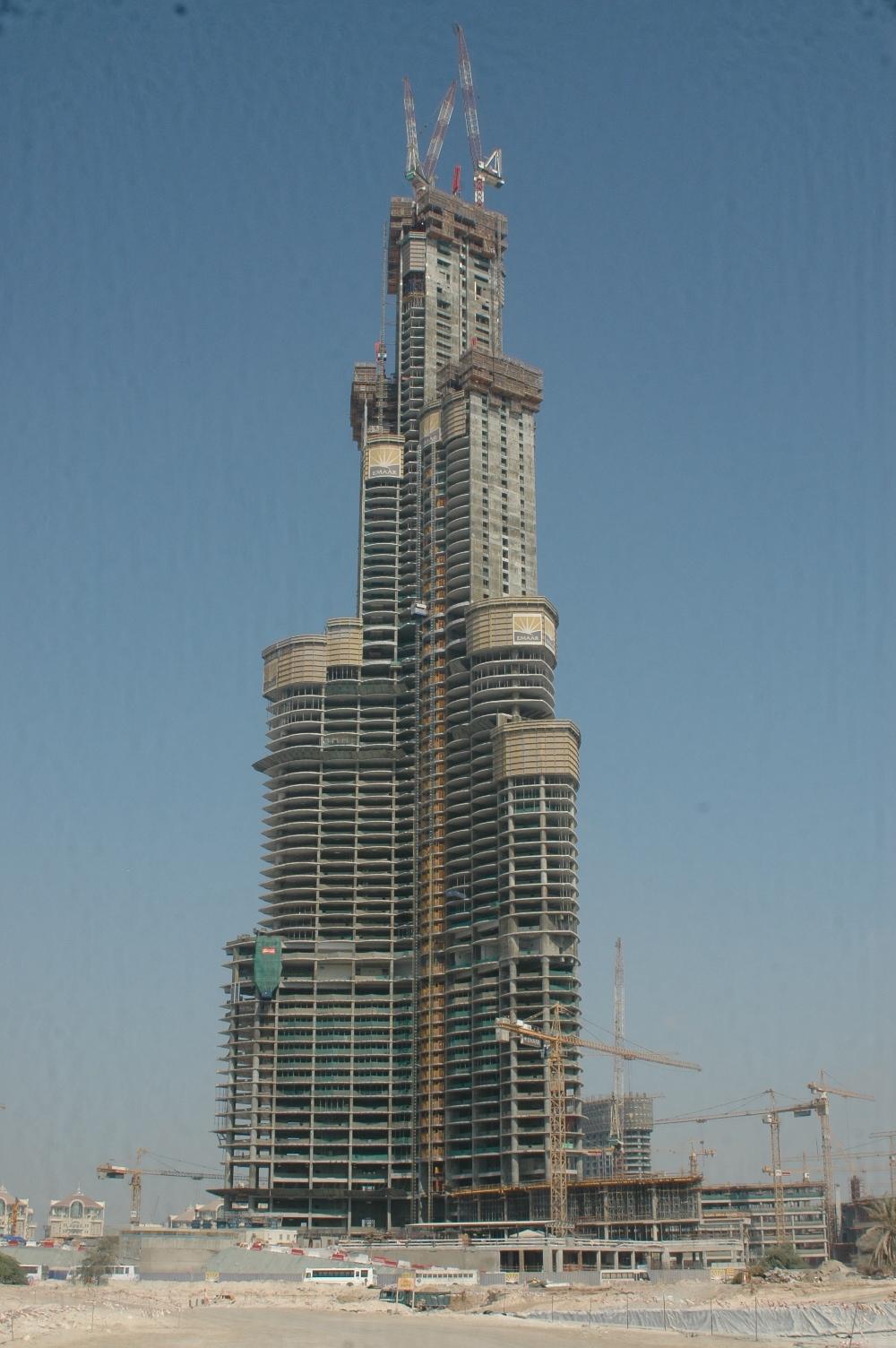 صور طريقه قام الامرات انشاء برج الخليفه
