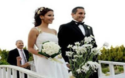 صوره باسم يوسف وزوجته , صور باسم وزجتة