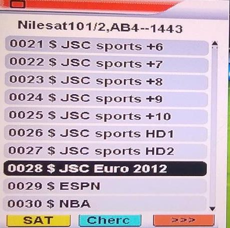 صورة ترددات قنوات الجزيرة الرياضية , التردد الجديد للنايل سات