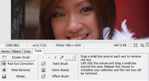 صورة ازالة العين الحمراء من الصور