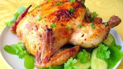 صور طريقة عمل دجاج محمر في الفرن