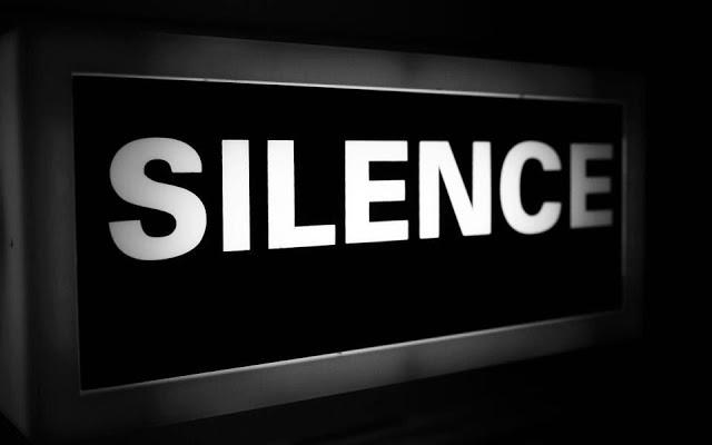 صورة اقوال عن الصمت