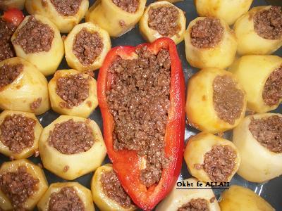 صور طريقة عمل بطاطس باللحمة المفرومة