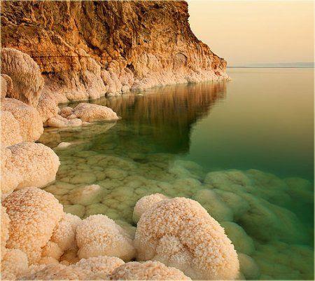 صورة الموقع الجغرافي للبحر الميت