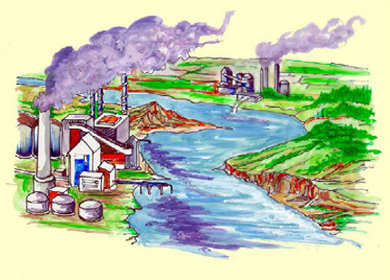 صوره مصادر تلوث البيئة