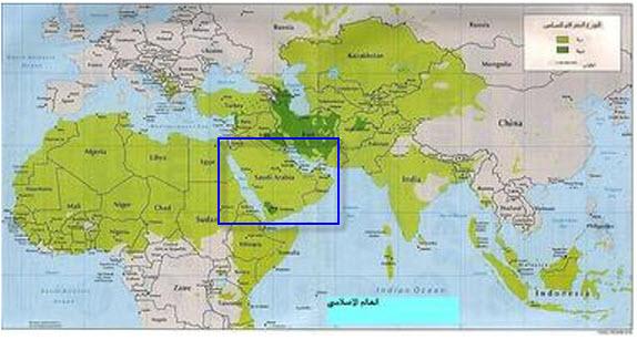 صوره ما اكبر دولة عربية مساحتا