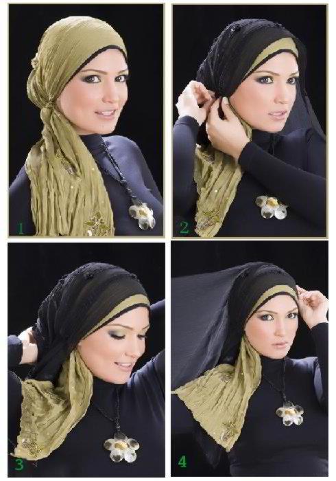 صور كيفية وضع الحجاب علي الموضه