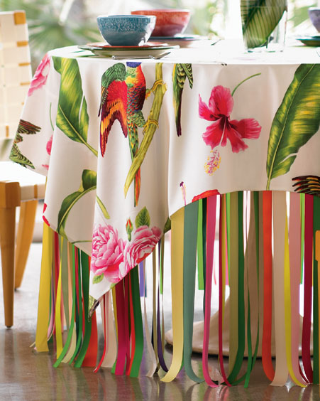 صور مفارش طاولات جميله
