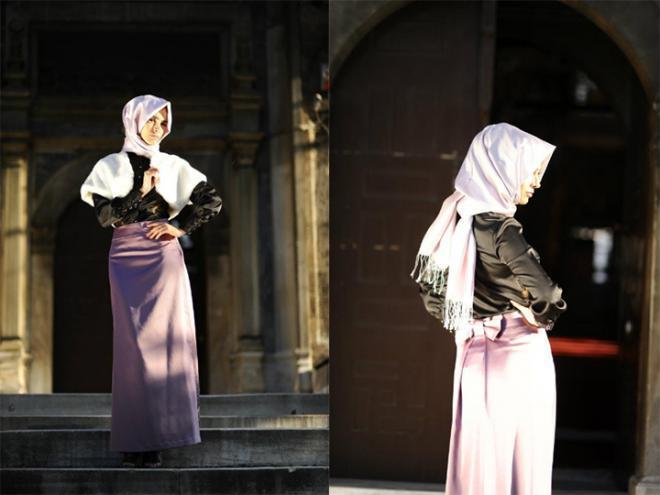 اجمل موضة محجبات 2019 ملابس راقية للمحجبات تركية 2019