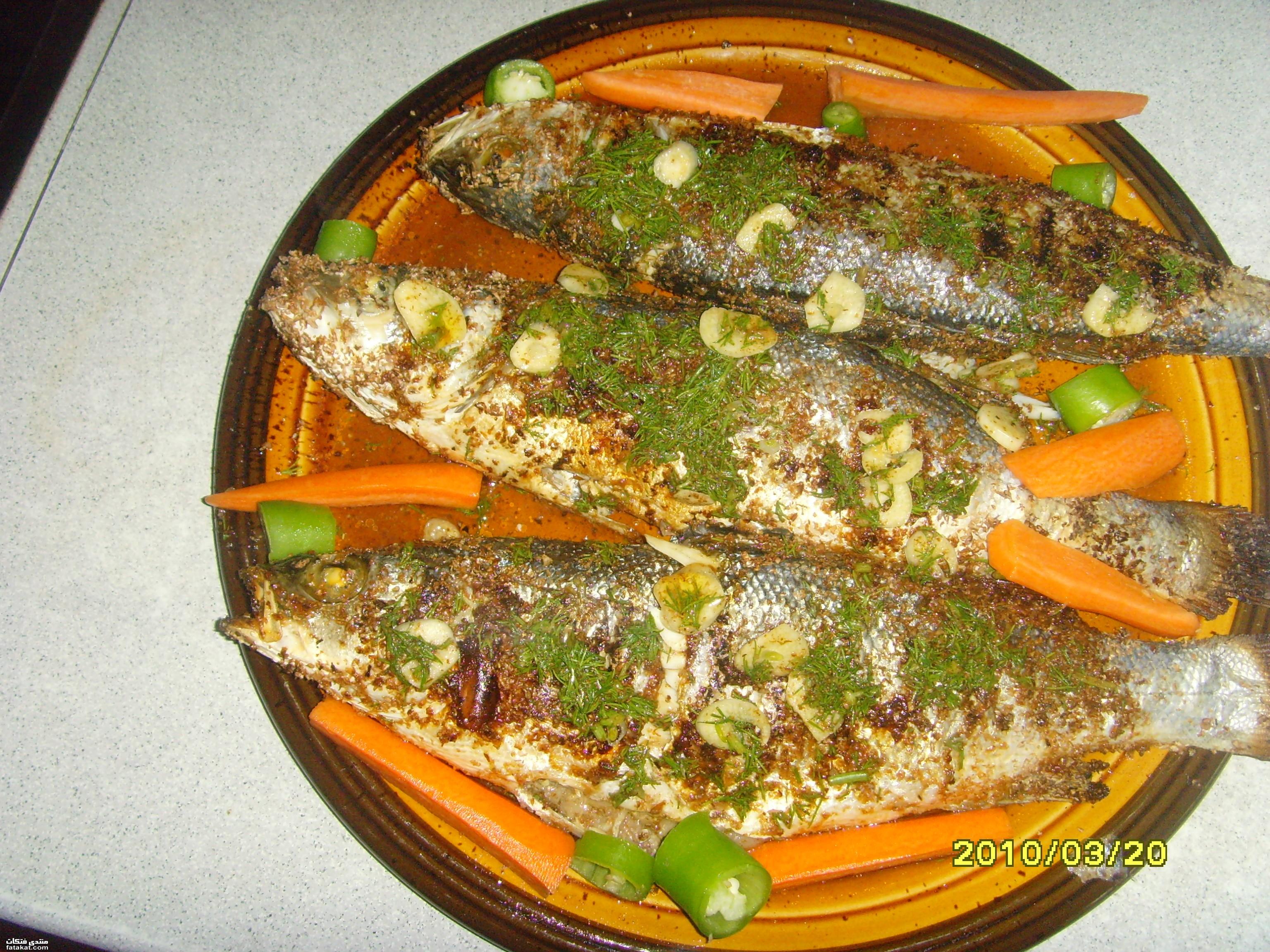 صور السمك المشوي الذيذ