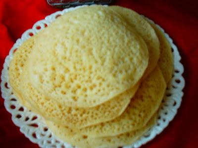 صور كيفية تحضير البغرير بدقيق القمح