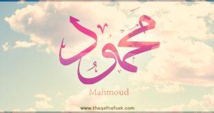 معنى اسم محمود في اللغة العربية