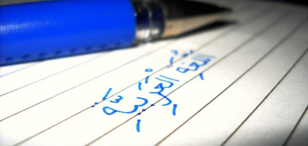 تعبير عن همية اللغة العربيه
