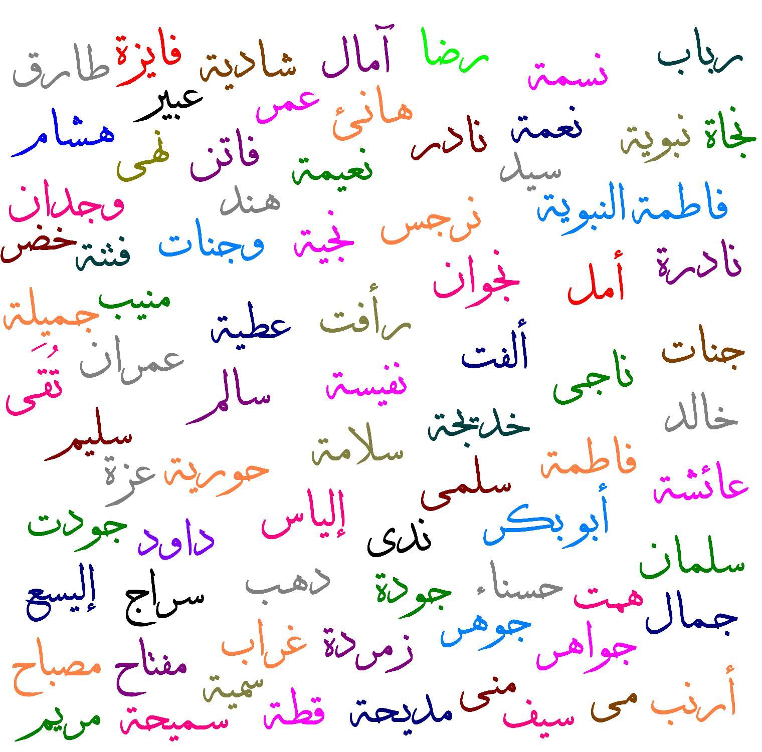 صور اسماء عربية جميلة