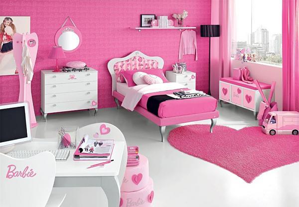 صور غرف نوم بنات فوشيا