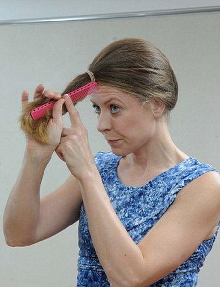 صور كيفية قص الشعر بسهولة