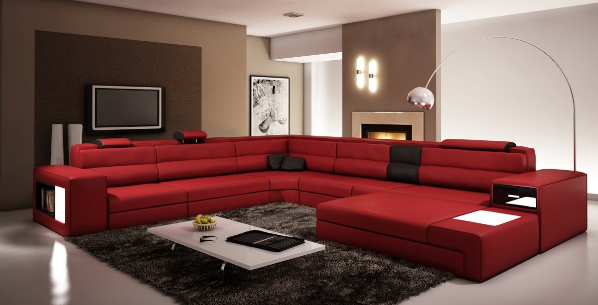 Modern Living Room Black And Red احدث الر...
