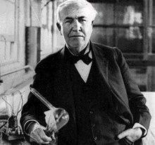 صور مخترع المصباح الكهربائي الحقيقي