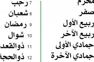 بالصور ترتيب الاشهر العربية 7f534fedff57af8491fe26e54f163e5e 310x205