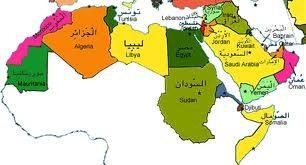 صورة سماء الدول العربية الموجودة في اسيا
