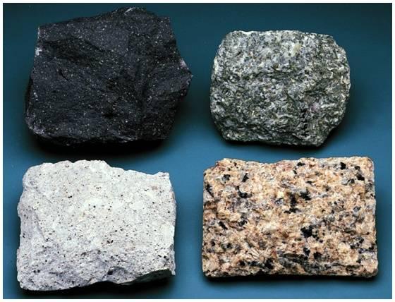 صور انواع الصخور البركانية