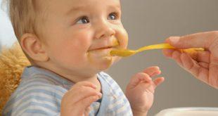 اكل الطفل فى الشهر الرابع