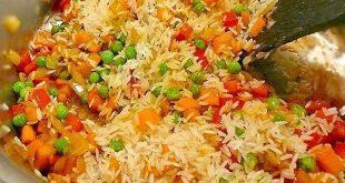 صورة مكونات طبخة الاوزي