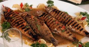 صور طريقة تقديم السمك المشوي