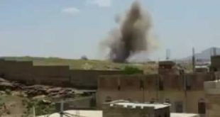 صور حوثيين يصورون لحظة اطلاق صاروخ سكود لكن فاجئهم الطيران السعودي