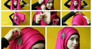 صور مفصلة لكيفية وضع الحجاب