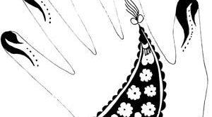 صور طريقة رسم الحنة على اليد