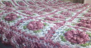 غطاء سرير كروشي